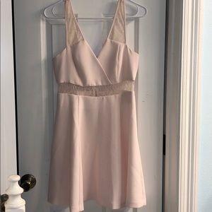 BCBG Generation Full Skirt V-Neck Dress